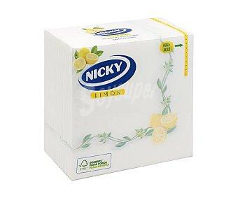 Nicky Servilletas de papel limón 33 x33 cm 65 uds