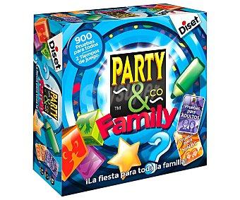 DISET Party & Co. Family Juego de mesa familiar multiprueba Party & Co. Family, de 3 a 15 jugadores, diset
