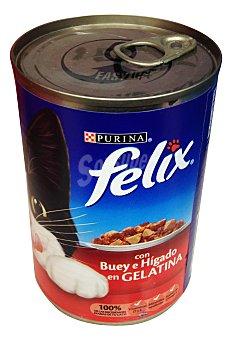 Felix Purina  Comida gato gelatina buey higado Bote 400 g