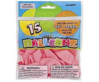 Unique Globos de color rosa, 12 pulgadas, 30,5 centímetros 15 unidades
