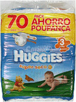 Huggies Bragapañal super seco T3 58 UNI