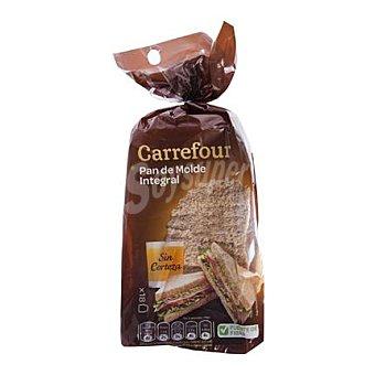 Carrefour Pan de molde integral sin corteza 450 g
