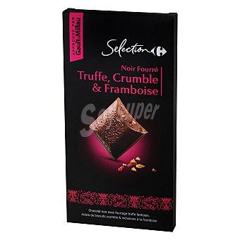 Carrefour Selección Chocolate negro relleno de trufa, frambuesa y crocanti 120 g