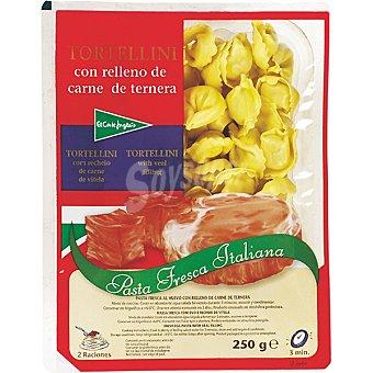 El Corte Inglés Tortellini fresco con relleno de carne de ternera Bandeja 250 g