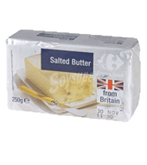 Carrefour Mantequilla con sal from britain 250 g