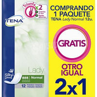 Tena Lady Compresa de incontinencia normal Paquete 12+12 unid