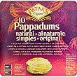 Pappaduns natural 10 unidades Caja 100 g Patak's