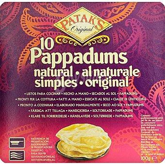 Patak's Pappaduns natural 10 unidades Caja 100 g