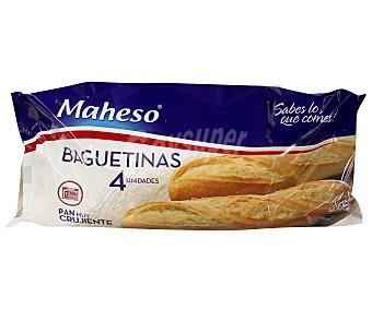Maheso Baguetinas de pan congelado Pack 4x125 g