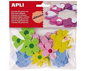 APLI Pack de goma EVA adhesiva con diseños de flores, , appli 40 u