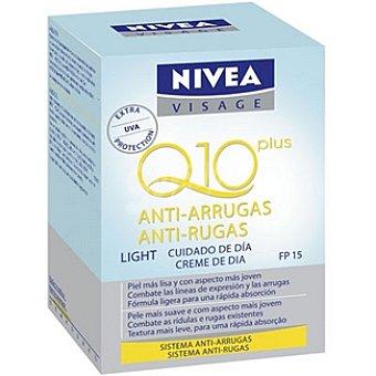 Nivea Visage crema de día antiarrugas PF-15 pieles mixtas y grasas Q10 Plus Light tarro 50 ml
