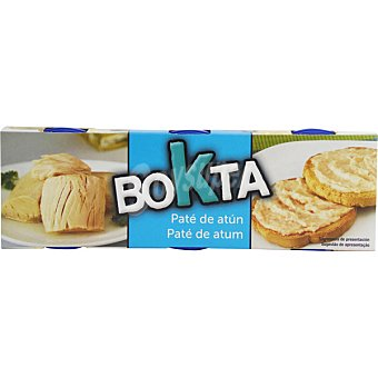 BOKTA Paté de atún 3 latas de 78 g