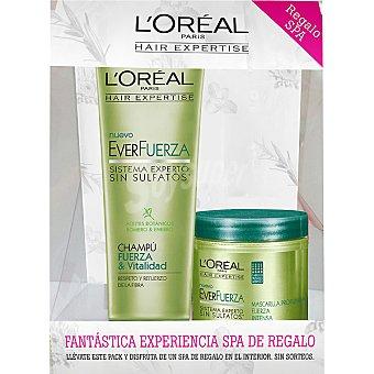 Expertise L'Oréal Paris Champú everfuerza Fuerza & Vitalidad + mascarilla everfruerza