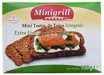 MINIGRILL Pan tostado integral tostas mini ( rectangulares extraplanas ) Caja 100 g