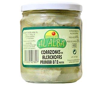 Al Alba Corazones de alcachofas 8/12 Piezas Tarro de 255 Gramos