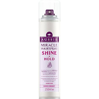 Aussie Laca Shine Hold con extracto de cerezo silvestre brillo y vitalidad Miracle Spray de 250 ml