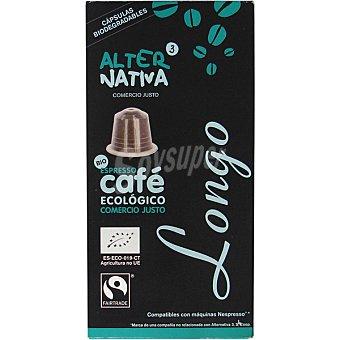 ALTERNATIVA 3 Café Expresso Ecológico Comercio Justo Longo Alternativa 3 Café Expresso Ecológico Comercio Justo Longo Estuche 55 g