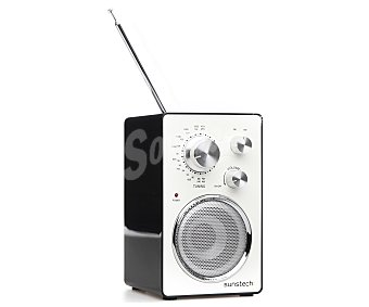 SUNSTECH RPR1150BK Radio portátil Analógica con sintonizador de radio am/fm, 3W rms, color negro