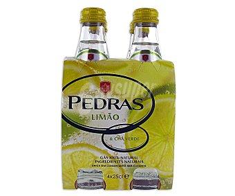 PEDRAS Agua sabor limón Pack 4 Unidades de 25 Centilitros