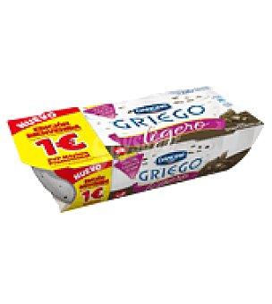 Griego Danone Yogur griego ligero con stracciatella Pack de 2x115 g