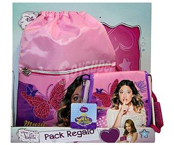 Disney Pack de Violetta con Bolsito más Bolso Saco 1 Unidad