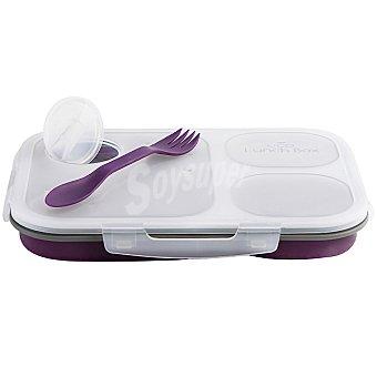 QUID Easy to go lunch box plegable en color morado