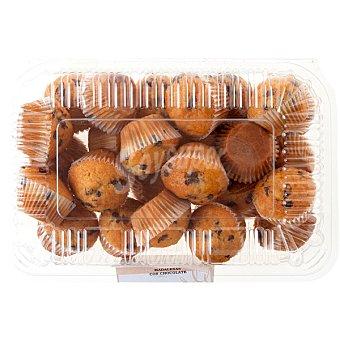 CALIDAD ARTESANA Mini magdalenas con chocolate producción propia 24 unidades bandeja 360 g 24 unidades