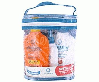 Ecran Neceser Protección Solar FP-15 (leche Solar 200 ml+leche Hidratante 20ml+Reparador 100ml) 1u