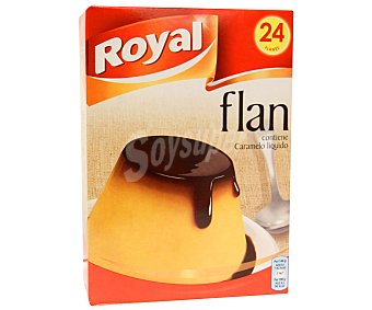 Royal Flan para preparar contiene azúcar y caramelo líquido Caja 558 g