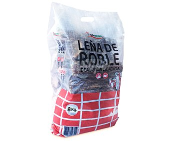 TODOBRASA Saco de leña de Roble para todo tipo de chimeneas y estufas de leña 8 kilogramos