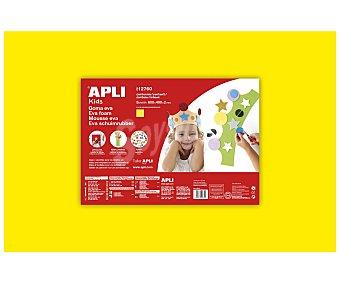 APLI Plancha de foam, goma eva de color amarillo y dimensiones 400x600x2 milímetros 1 unidad