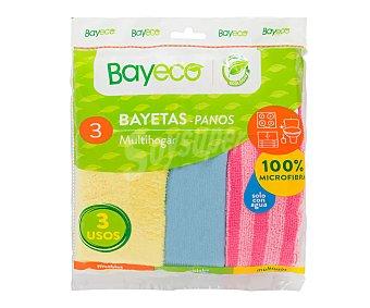 Bayeco Bayetas de microfibra 3 uds