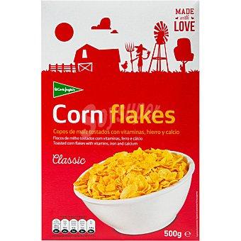 Aliada Cereales de desayuno en copos de maíz tostados con 8 vitaminas y hierro Estuche 500 g