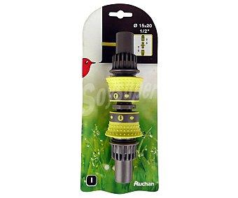 """Auchan Kit de 2 conectores automáticos bimaterial y 1 empalme de mangueras de 1/2"""" 1 Unidad"""