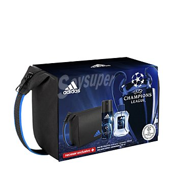 Adidas Estuche colonia UEFA Champions League spray 100 ml. + desodorante 150 ml. + neceser 1 ud