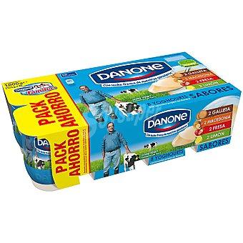 Danone Yogur sabores fresa-macedonia-limon-galleta 8 unidades de 125 g