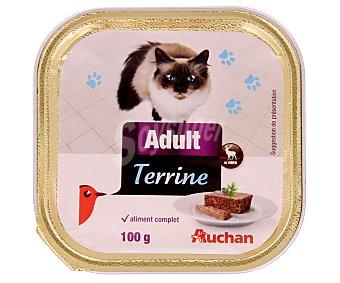 Auchan Comida Húmeda para Gato. Delicias Caza Tarrina 100 Gramos