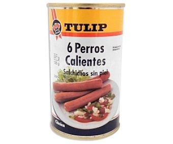 Tulip Perros Calientes de Pollo 6 Unidades 125 Gramos