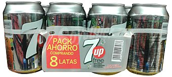 7 UP Lima limón con gas light 8 latas de 33 cl