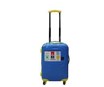 ITLUGGAGE Maleta Trolley rígido 48cm de 4 ruedas abs, expansible,color azul, ideal para cabina por sus dimensiones y diseño 1 unidad
