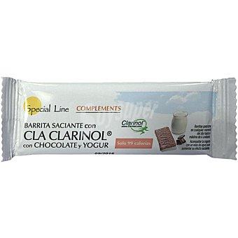 SPECIAL LINE Barrita saciante con Cla Clarinol sabor chocolate y yogur  envase de 20 g