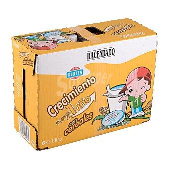 Hacendado Preparado lacteo liquido infantil crecimiento con cereales a partir 1 año Brick pack 6 x 1 l - 6 l