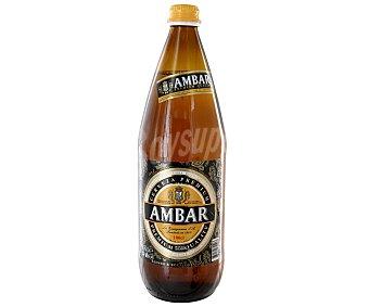 Ambar Cerveza rubia Botella 1 l