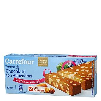 Carrefour Turrón de chocolate con almendras 200 g
