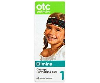 OTC Antipiojos Champú antipiojos permetrina, eficaz en 15 minutos ,otc Antipiojos 125 Mililitros