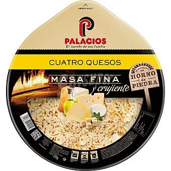 Palacios Pizza masa fina y crujiente con cuatro quesos Envase 360 g