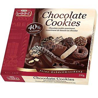 Lambertz Galletas surtidas con chocolate Caja 250 g
