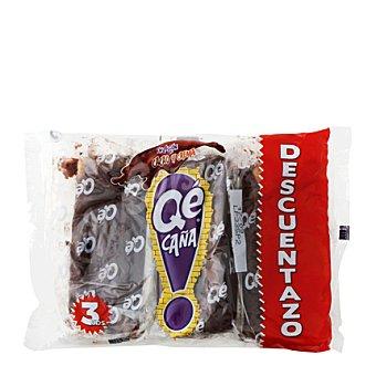Panrico Caña de chocolate rellena Pack de 3x90 g