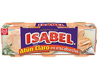 Isabel Atún claro en escabeche 3 latas de 52 g