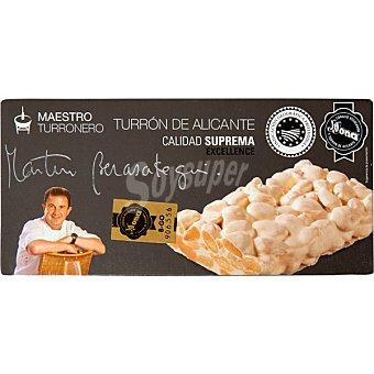 MARTIN BERASATEGUI Maestro Turronero Turrón de Alicante Calidad Suprema Tableta 250 g